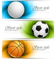 set banners with balls vector image vector image