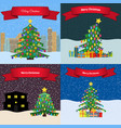 set of four happy new year backgrounds vector image vector image