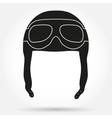 Silhouette symbol ofRetro aviator pilot helmet vector image vector image