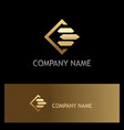 square line gold business finance logo vector image vector image