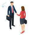 successful businessmen handshaking vector image vector image