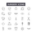 surgery line icons for web and mobile design vector image vector image