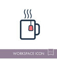 tea cup outline icon workspace sign vector image