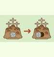 tomb jesus stone cave graphic vector image