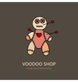 voodoo doll logo vector image