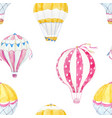 watercolor air baloon pattern vector image vector image