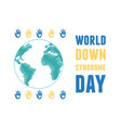 world down syndrome day hands showing hearts vector image vector image