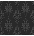 Black 3d Floral Damask Seamless Pattern vector image
