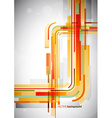 Abstract orange lines on grey background vector image