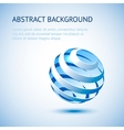 Blue sphere background vector image