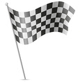 checkered flag for car racing 01 vector image