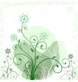 Grunge flower green vector image