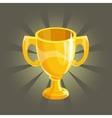 Golden winner cup vector image