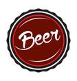isolated beer bottle cap vector image