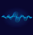abstract wavy lines surface on dark blue vector image vector image