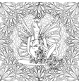 adult coloring book page with fairy pregnant lady vector image vector image