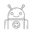app update line icon vector image vector image