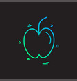 apple fruit study icon design vector image
