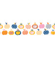 apples seamless repeating border abstract vector image