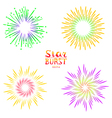 Background design with abstract fireworks and vector image vector image