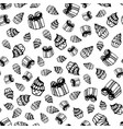 birthday seamless pattern in hand-drawn doodle vector image