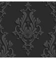 Black 3d Floral Damask Seamless Pattern vector image vector image