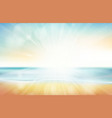 blurred summer beach sky sea ocean and sand vector image vector image