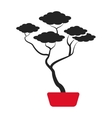 bonsai tree japanese ornament icon vector image vector image