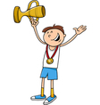 boy winner cartoon vector image