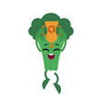 broccoli with gold cup celebrating success and vector image vector image