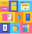 business collection of flat and colorful web icons vector image vector image