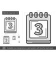 Calendar organizer line icon vector image