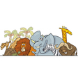 Cartoon African Safari Animals vector image vector image