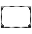 celtic frame or border pattern irish vector image vector image
