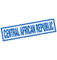 Central African Republic blue square grunge stamp vector image