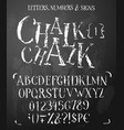 Chalk latin serif alphabet in grunge style