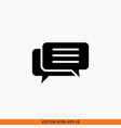 chat group icon solid black editable stroke vector image