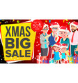christmas sale banner sale background big vector image