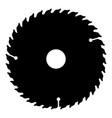 circular disk icon black color flat style simple vector image vector image