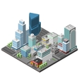 City Downtown Concept vector image vector image