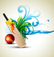 cricket background vector image vector image
