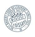 croissant round stamp icon vector image
