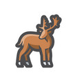 deer head simple icon cartoon vector image vector image