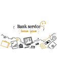 deposit credit banking money transactions bank vector image