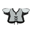 drawing american football body protection element vector image