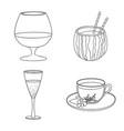 drink and bar symbol set vector image vector image