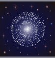 firework at night sky with stars holiday decor vector image