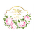 flower garland for invitation card wedding card vector image