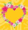 Flower Heart Frame Text Insertion vector image