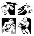 football logos vector image vector image